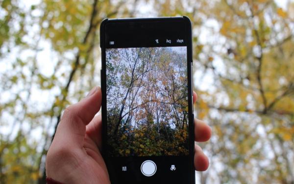 foto maken met mobieltje