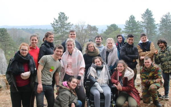 deelnemers aan het kamp in de Ardennen