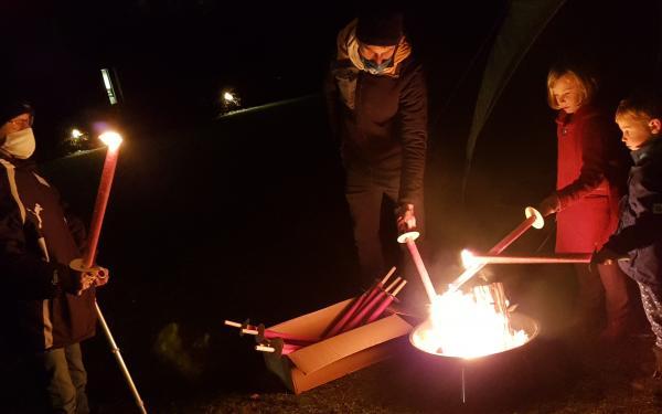 rond de vuurkorf