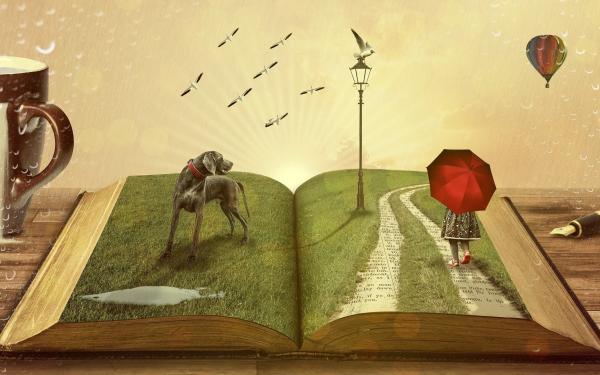 open boek artistiek